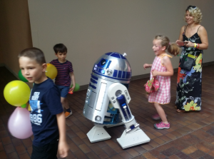 R2D2 was one of the hits with the kids at the Faire